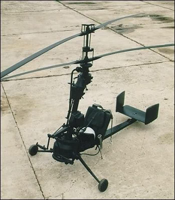 Вертолет с двигателем от бензопилы 37