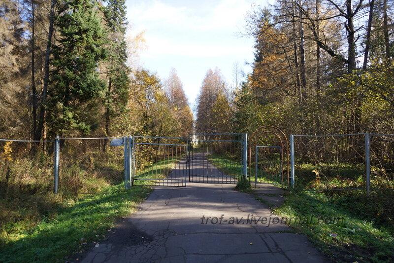 Центральные ворота, Усадьба Любвино, Тучково