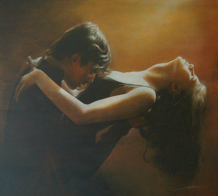 Итальянский художник Antonio Sgarbossa. Я тебя почти не забыла, я еще под действием танца