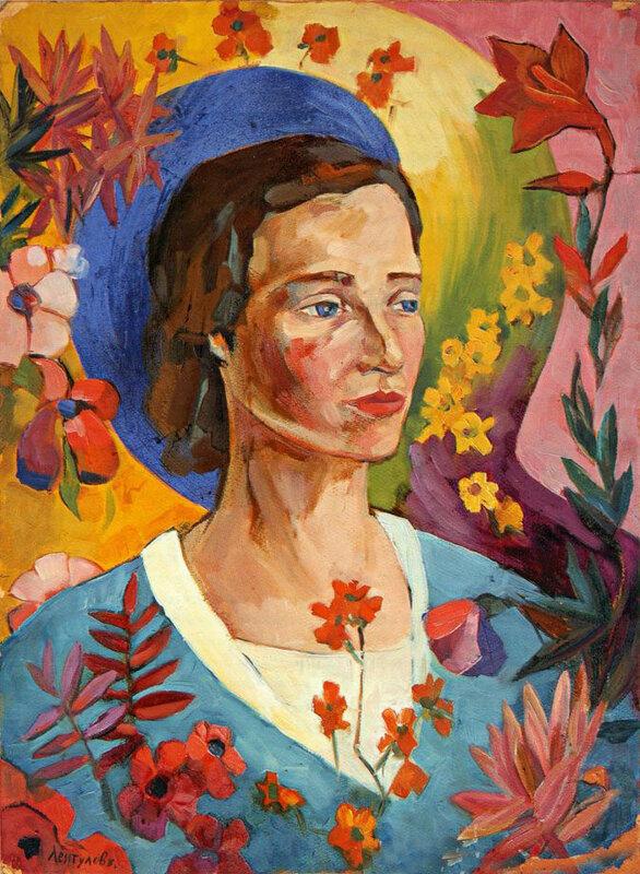 Портрет неизвестной в голубом платье, 1916 год