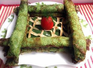 Блины зеленые из шпината
