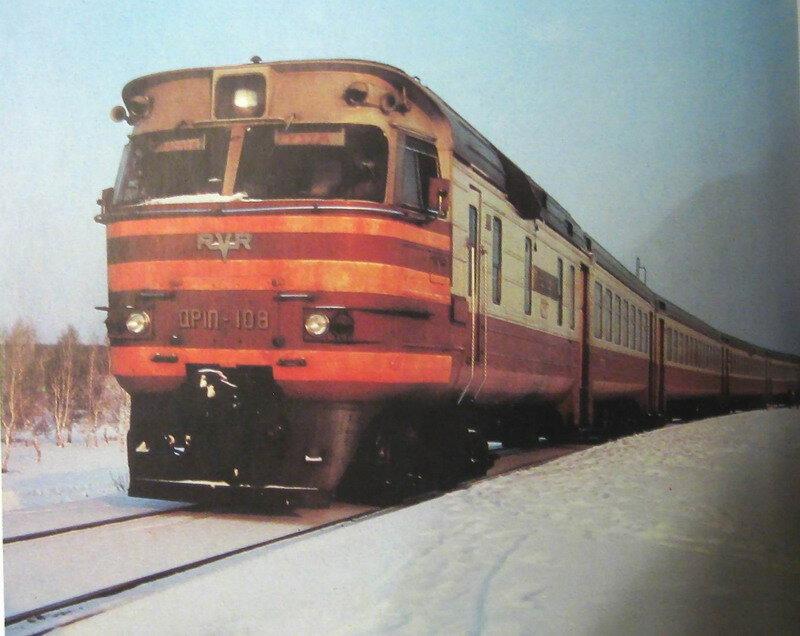 Дизель-поезд УЗТМ-Красное.