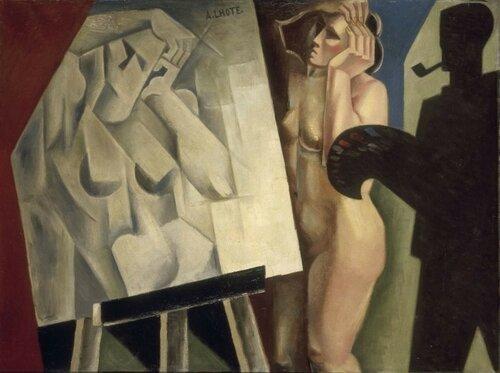 André Lhote Le peintre et son modéle. 1920