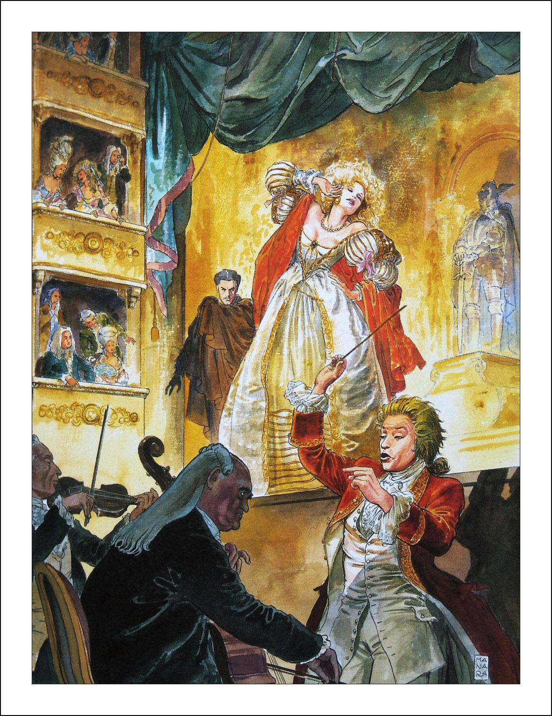 Milo Manara, Pentiti! Mozart 250