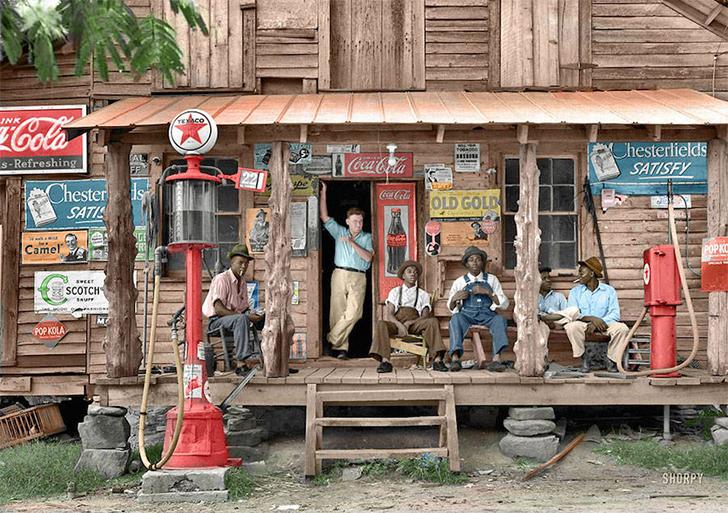 Сельская лавка Old Gold, 1939 год.