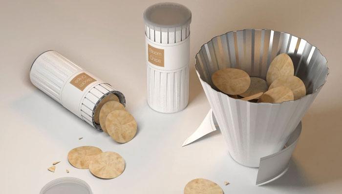 Контейнер для печенья превращается в миску.