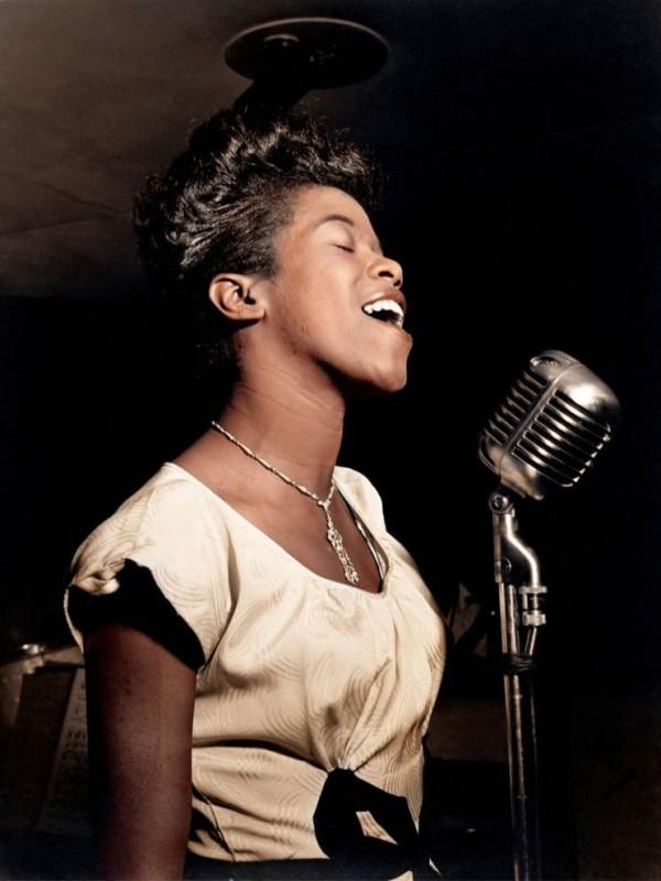 Американская джазовая певица Сара Воан, 1946 год.