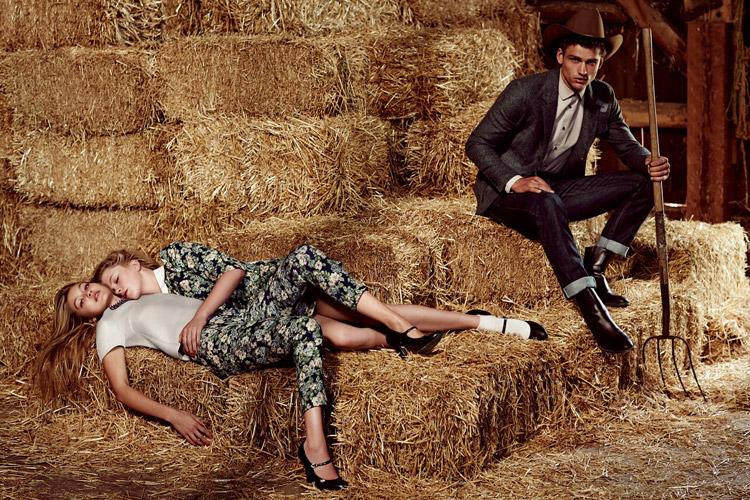 Саймон Нессман и Ирландия Болдуин в рекламе Sisley