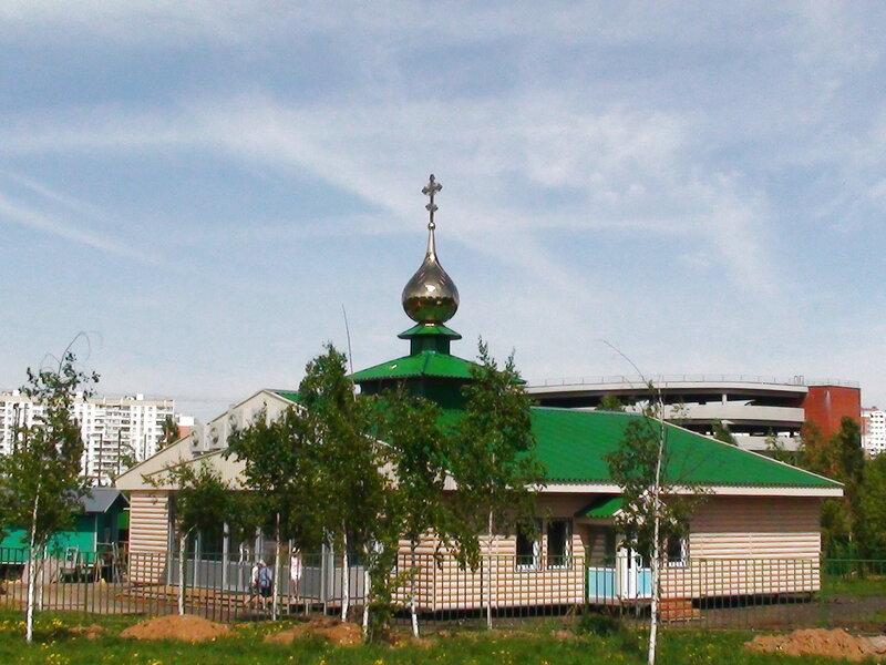 Церковь на месте строительства храма