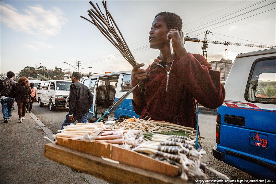 Зубная палочка мисвак в Африке