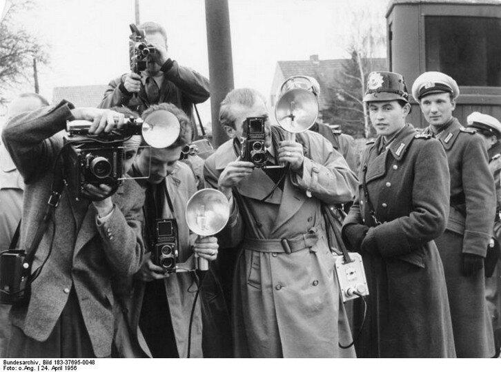 Altglienicke, Fotografen der westlichen Presse