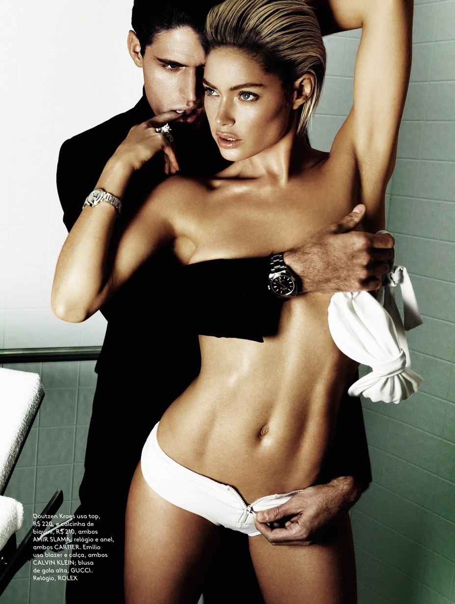Doutzen Kroes / Даутцен Крус, фотограф Mario Testino - Vogue Brazil June 2013
