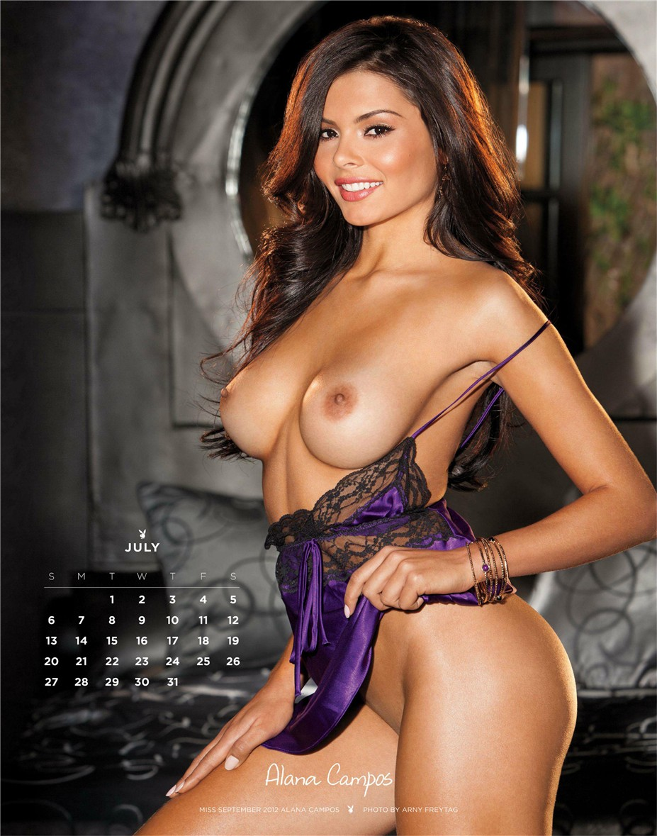 july - Playboy USA playmate calendar 2014 / Alana Campos - Miss September 2012