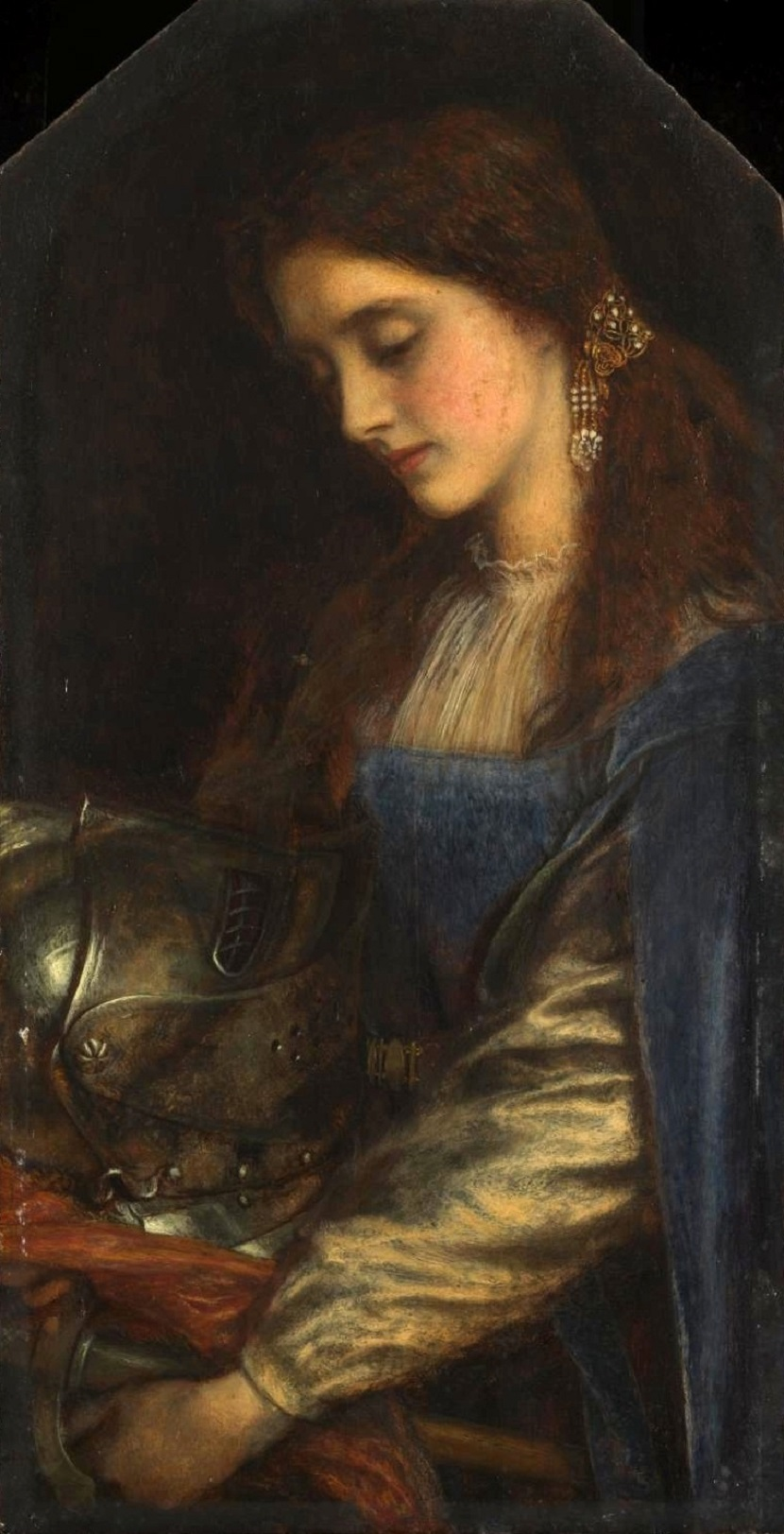 1867 Элейн с доспехом Ланцелота (Elaine with the Armour of Launcelot) Лондон, Музей Тейт.