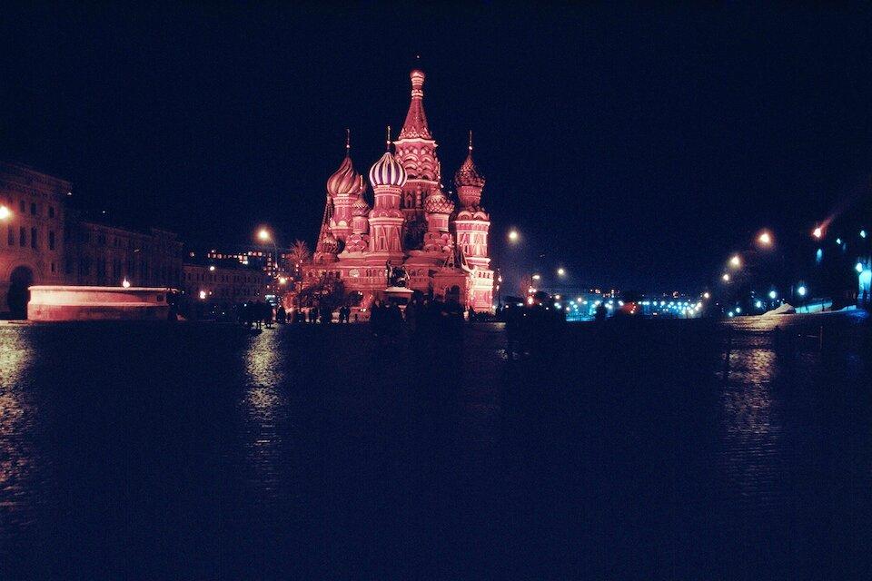Москва. Красная площадь ночью