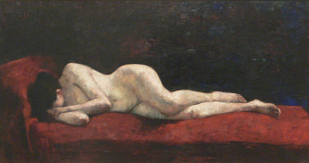 Лежащая обнажённая, 1889, Лессер Ури (1861-1931), Берлинская галерея