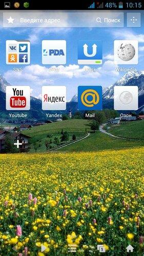 UC Browser (интерфейс со своими обоями)