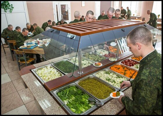 Столовая в 20-й общевойсковой армии ЗВО