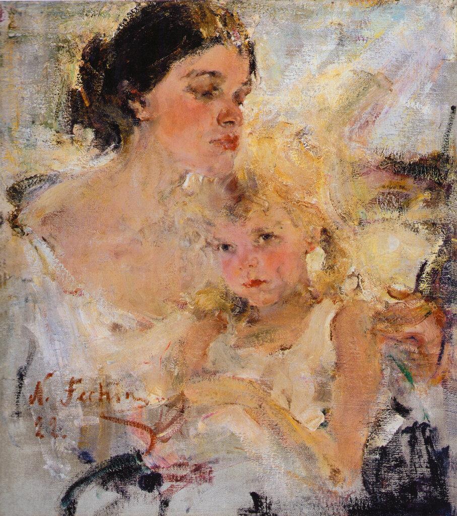 Миссис Фешина с дочерью (1922).jpg