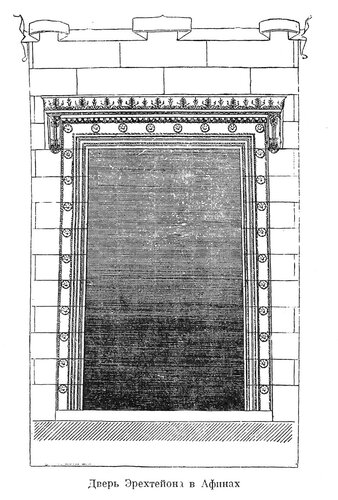 Эрехтейон на Афинском акрополе, план