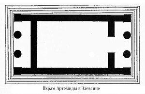 Храм Артемиды в Элевсине, план