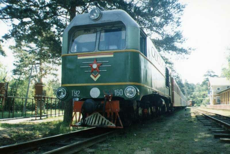 Тепловоз ТУ2-160 на станции им.Павлика Морозова (03.06.2013)