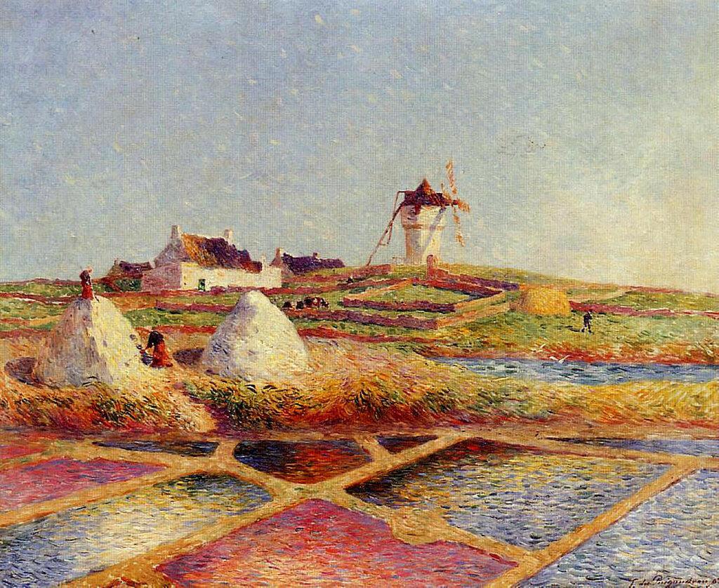 Ferdinand du Puigaudeau - Landscape with Mill near the Salt Ponds, 1902.jpeg