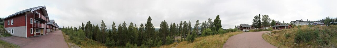 Западная Швеция. Горнолыжный курорт Идре. Western Sweden, Idre Ski resort, panorama