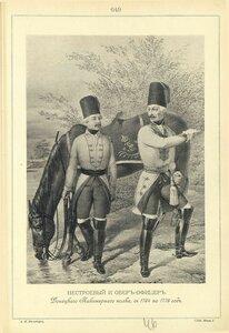 649. НЕСТРОЕВОЙ и ОБЕР-ОФИЦЕР Донецкого Пикинерного полка, с 1764 по 1776 год.