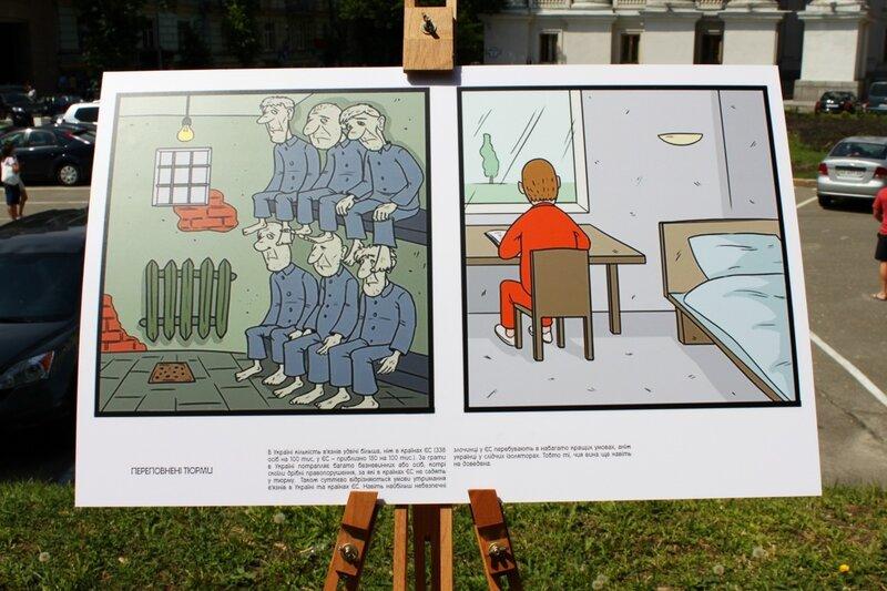 В Украине число заключенных вдвое больше, чем в Европе