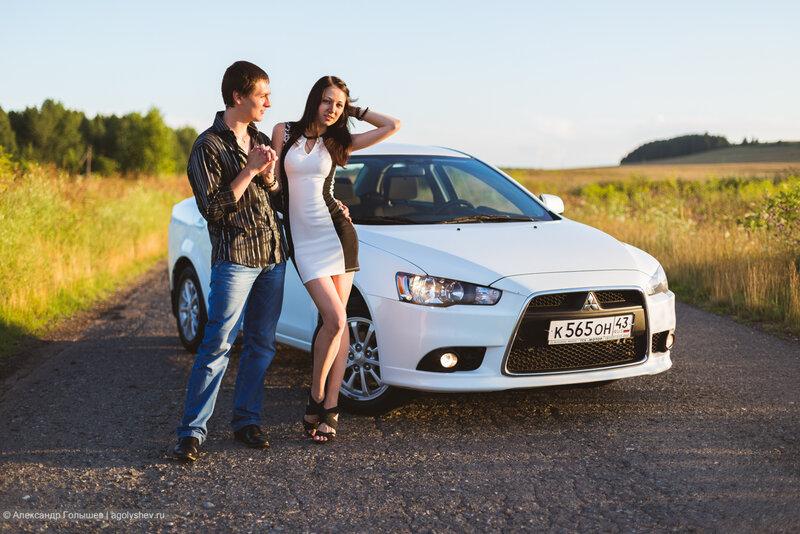 Даша, Денис и Mitsubishi Lancer X