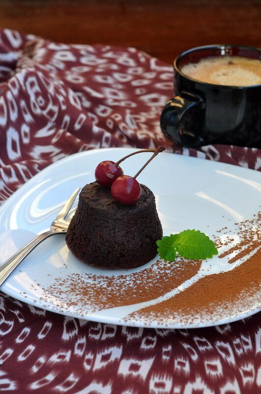 Кекс с какао без муки