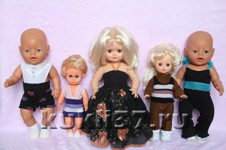 одежда для куклы из носков