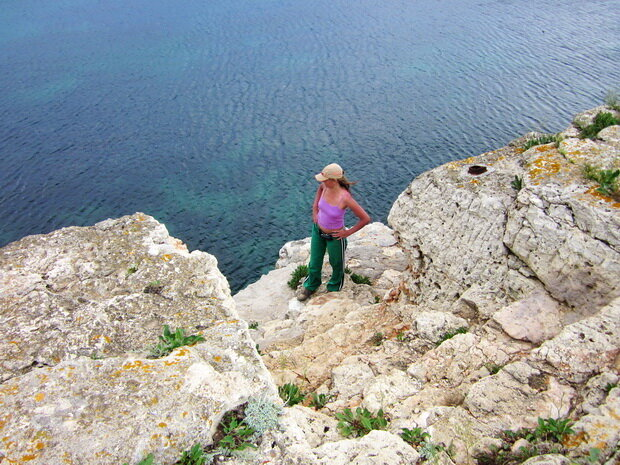 вид на море со скалы