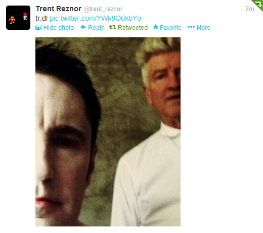 Trent Reznor and David Lynch