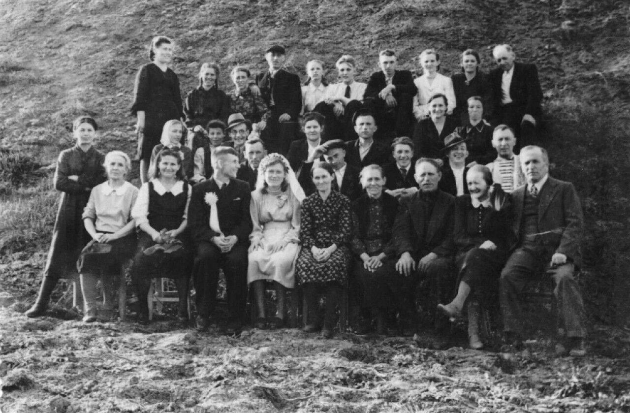 1951. Свадьба Фридриха Лореша и Екатерины Шнейдер