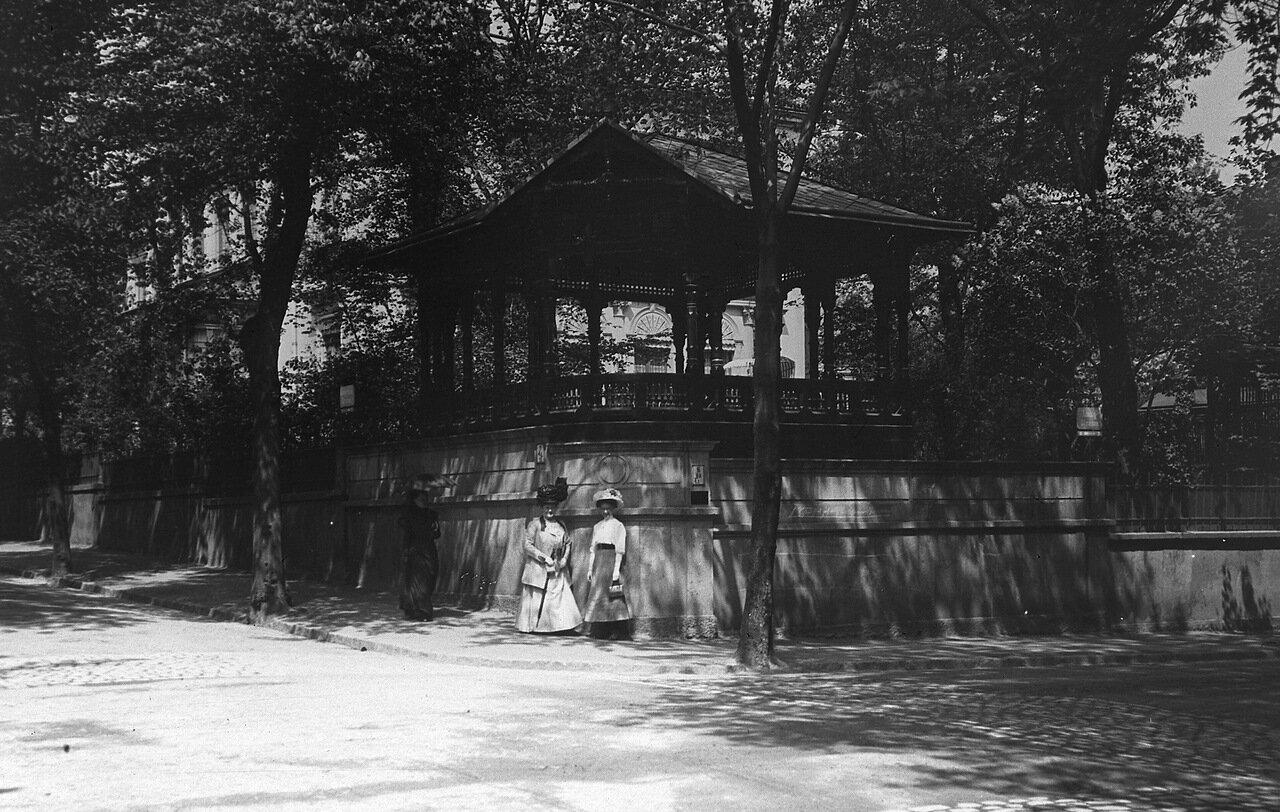 1907. Дрезден, пересечение улиц Лейбницер и Либих