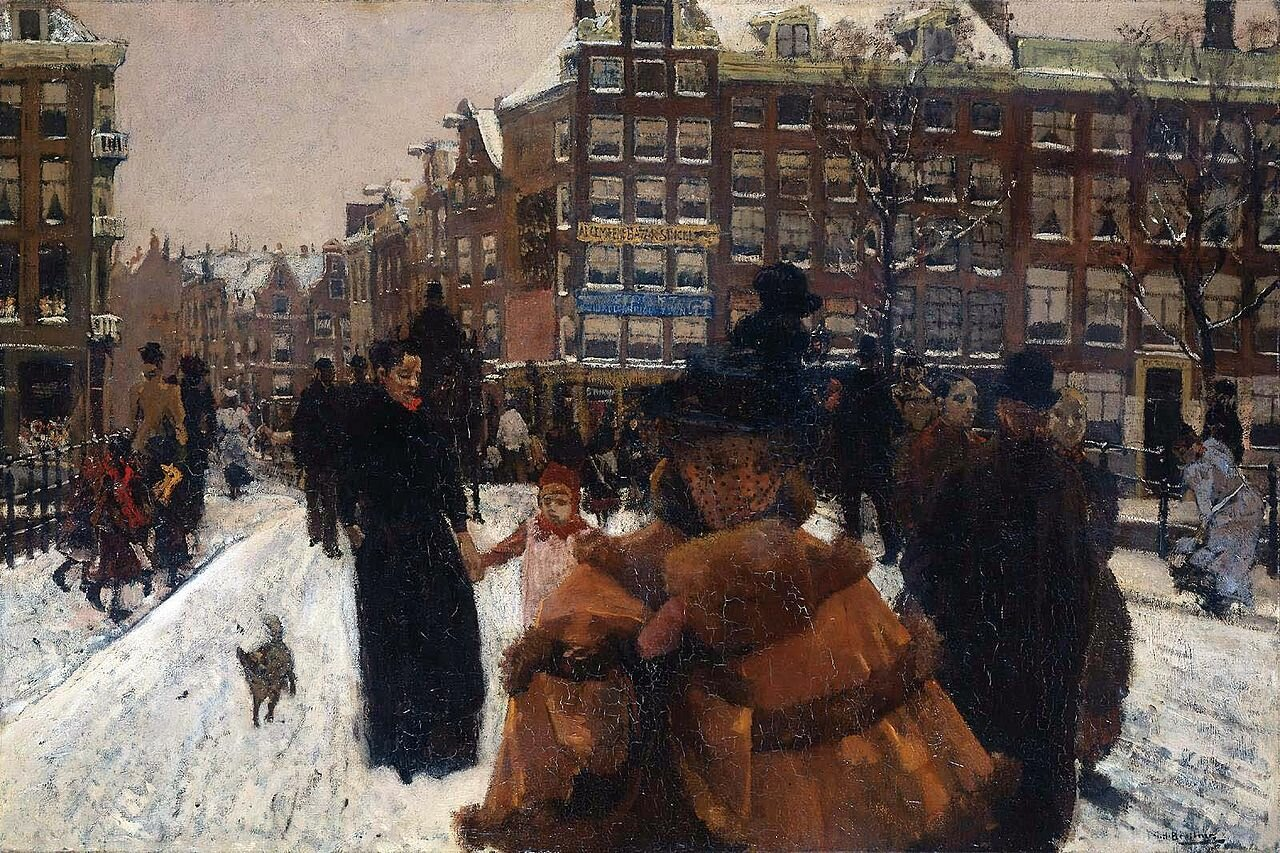 Мост песен у Дворцовой площади в Амстердаме (1890) Георг Хендрик Брейтнер (1857–1923);