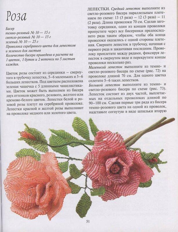 Роза из бисера и схемы
