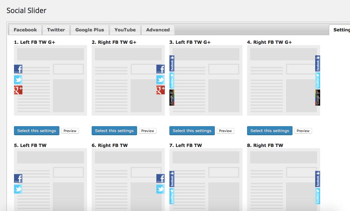 Внешний вид социального слайдера, wordpress, плагины на wordpress,