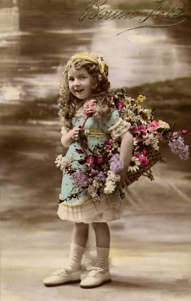 фото старинных открыток с цветами