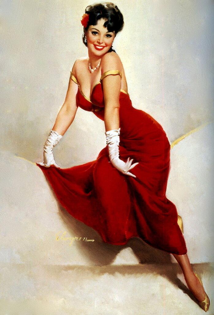 Gil Elvgren (1914-1980) - Picture Pretty, 1967