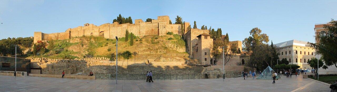 Малага. Крепость Алькасаба