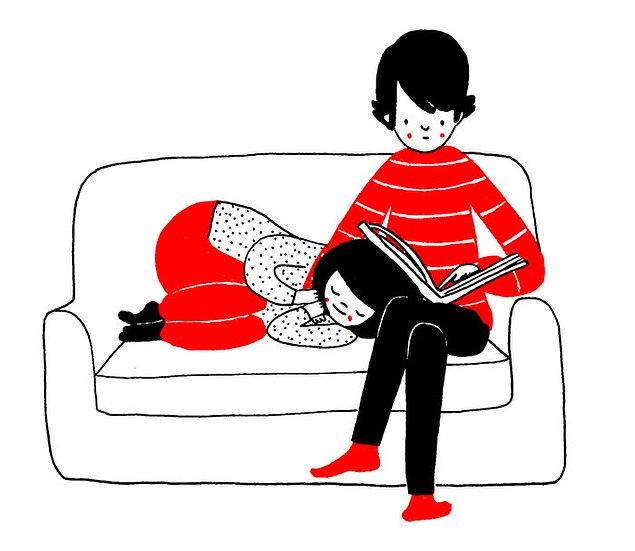 Любовь - это уснуть у него на коленях