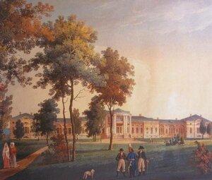 Акварель невідомого художника XIX ст. Палац К. Розумовського, Яготин.