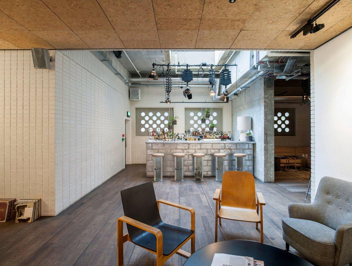 Ace Hotel London, дизайнерский отель, дизайн интерьера отеля, отели в Лондоне, обзор отеля Ace Hotel London, лучшие отели мира, Universal Design Studio