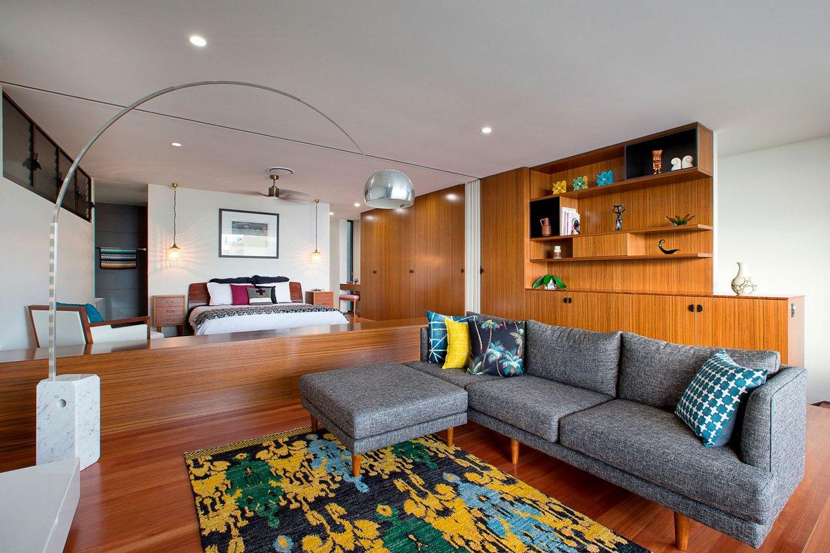 Jamison Architects, реконструкция частного дома, реконструкция дом фото, шикарный вид из окон частного дома, лестница в частном доме фото