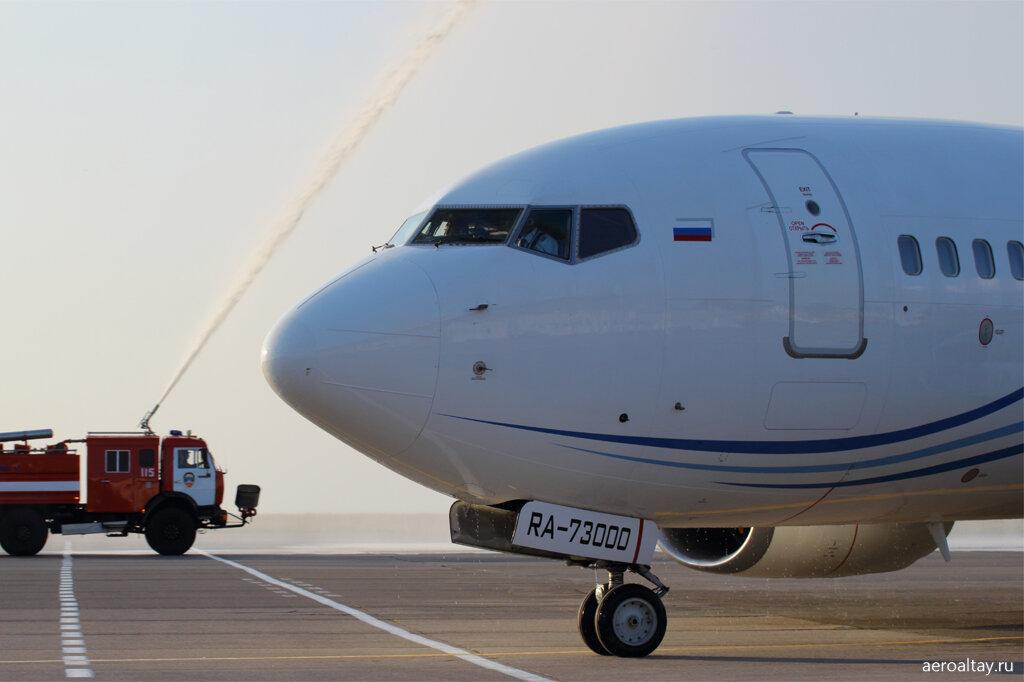 Открытие рейса Барнаул-Москва компанией Газпромавиа