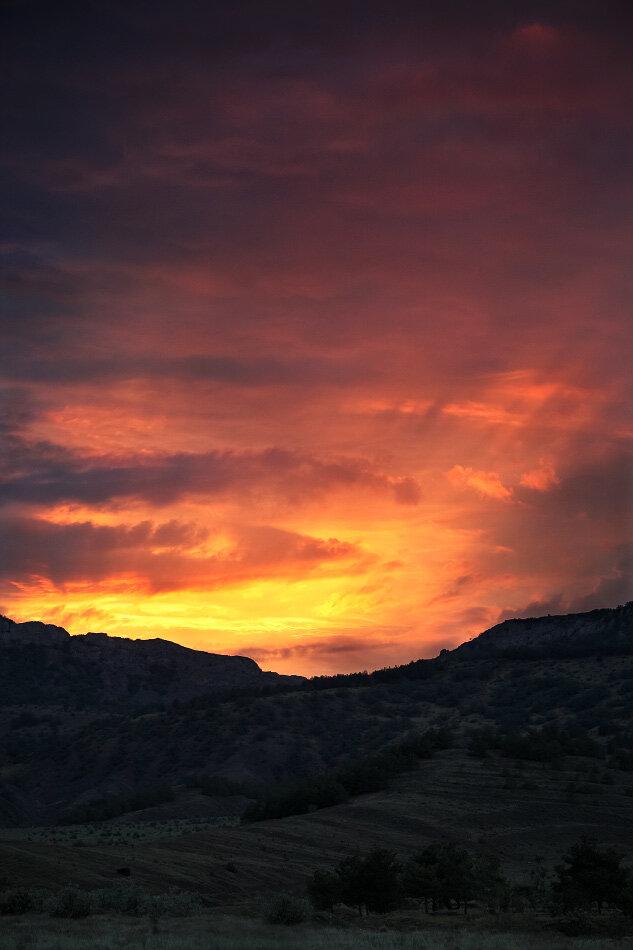 Закат над Эчки-дагом