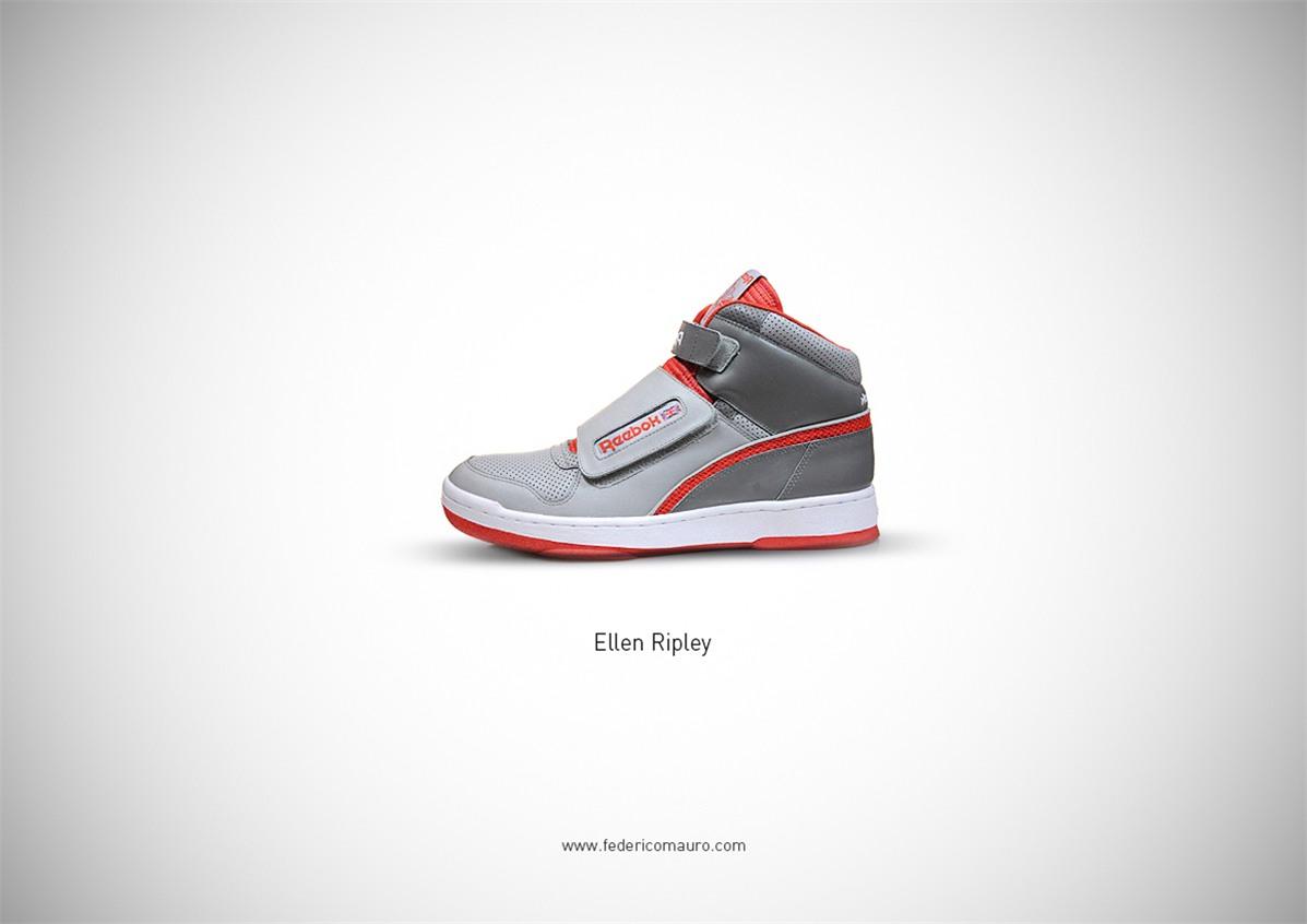 Знаменитая обувь культовых персонажей / Famous Shoes by Federico Mauro - Ellen Ripley